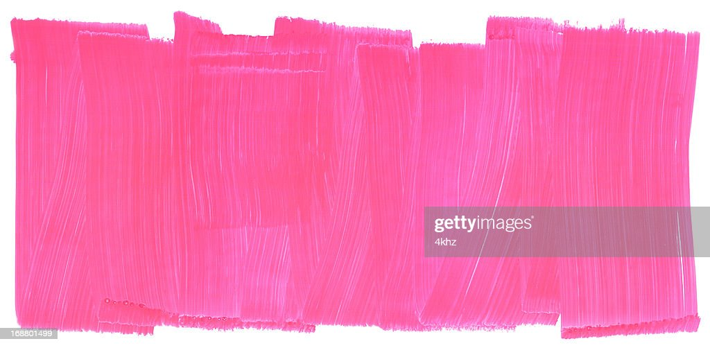 Honeysuckle Pink Painted Brush Stroke Texture Frame : Stock Illustration