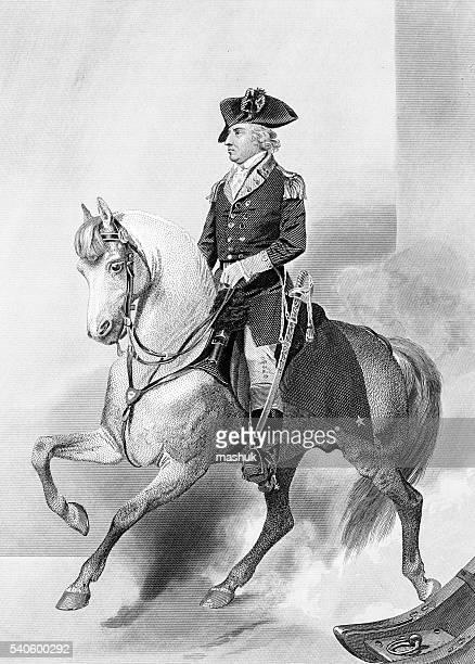ilustrações, clipart, desenhos animados e ícones de horatio portões geral americano durante a guerra revolucionária - american revolution