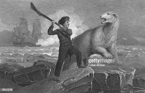 Horatio Nelson , later an English Admiral, in conflict with a polar bear while on an Arctic expedition. Original Publication: People Disc - HH0420