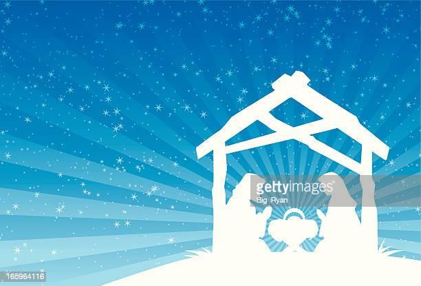 水平キリスト降誕のマイレージプログラムの - 飼い葉桶点のイラスト素材/クリップアート素材/マンガ素材/アイコン素材