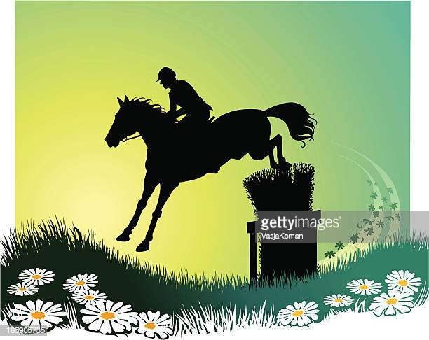 Horse Background with Flowers