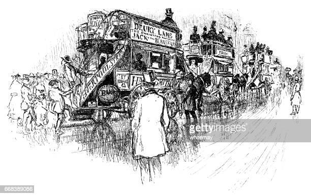 horse drawn transportのイラスト素材と絵 getty images