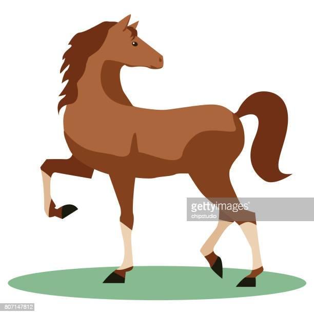 horse - mare stock illustrations, clip art, cartoons, & icons