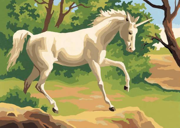 horse - unicorn stock illustrations