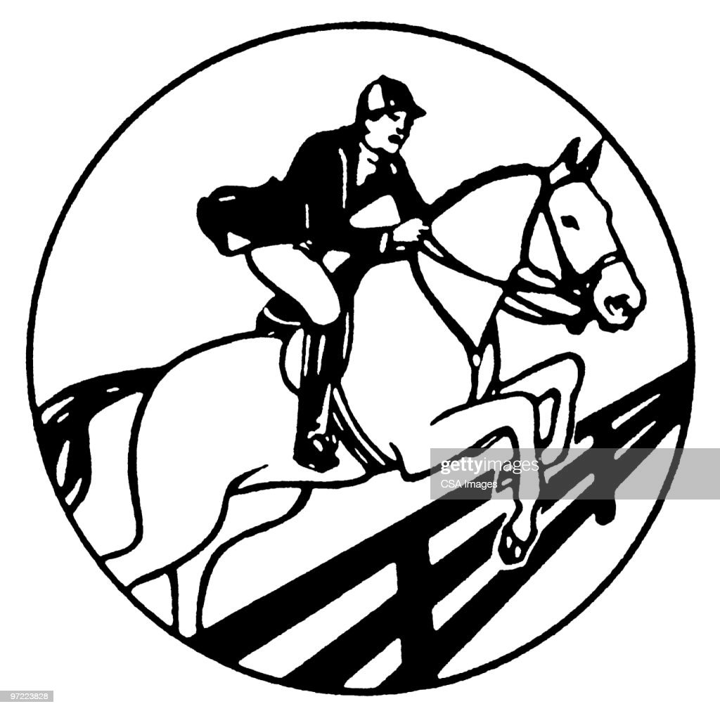 Horse Jumping Fence High Res Vector Graphic Getty Images