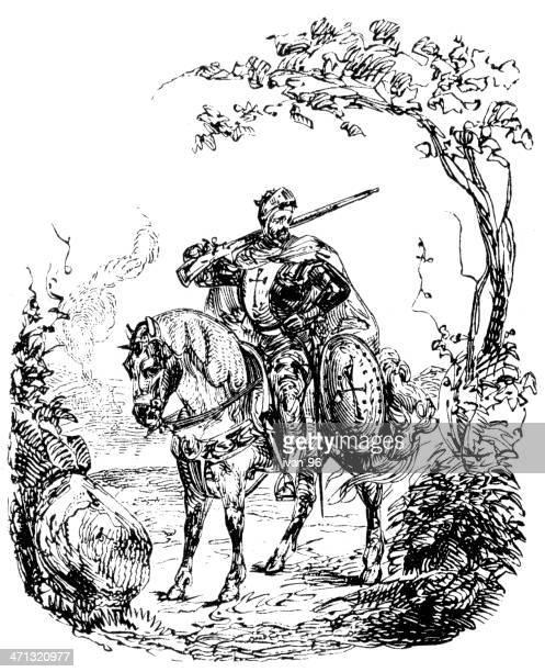horse riding knight