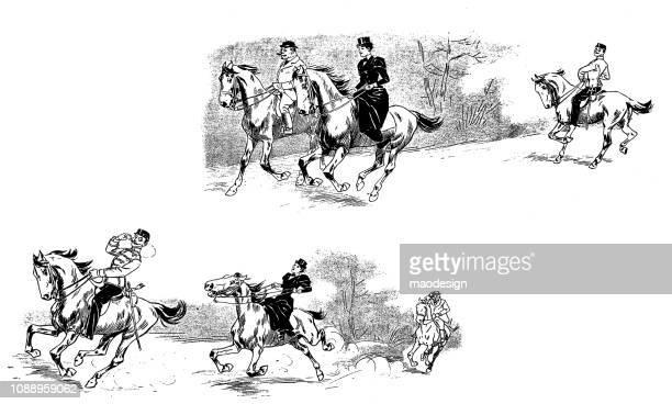 Horseback riding - 1896