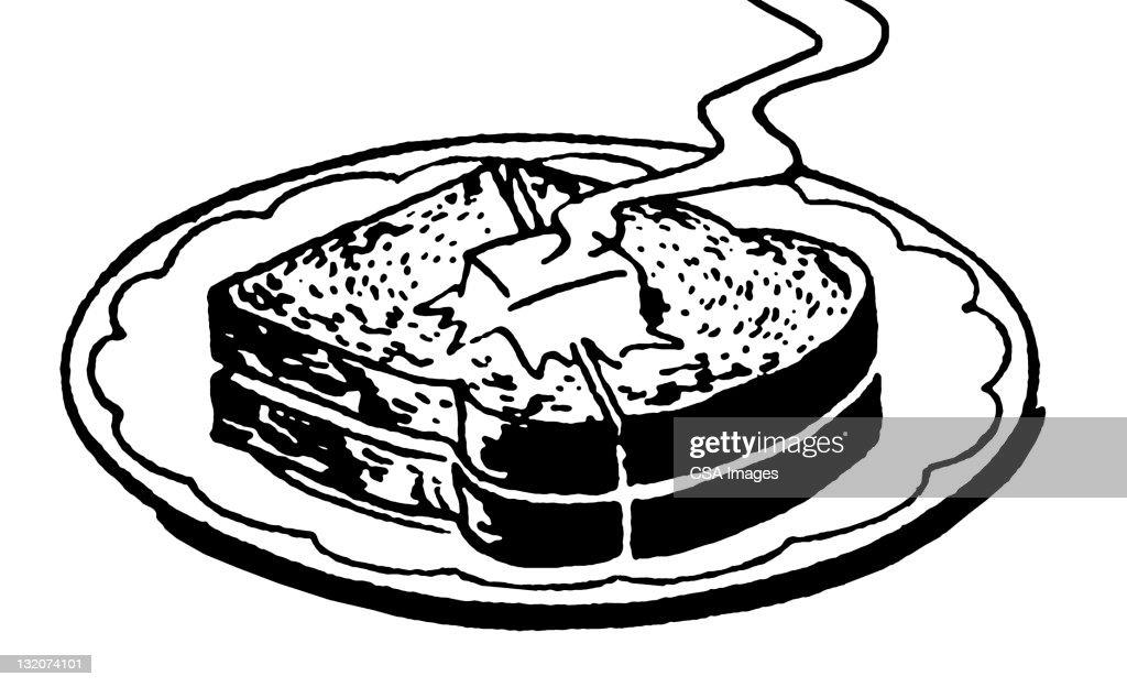 Hot Buttered Toast : stock illustration