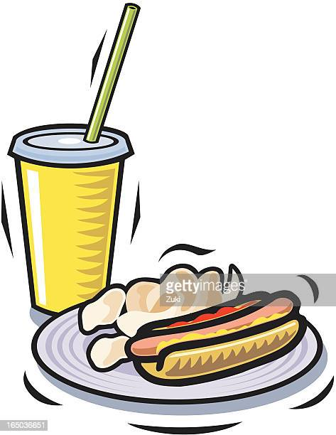Hot Dog chips and soft drink