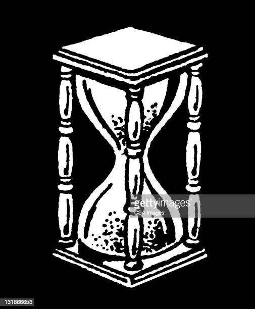 hour glass - hourglass stock illustrations