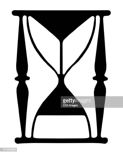 hourglass - hourglass stock illustrations