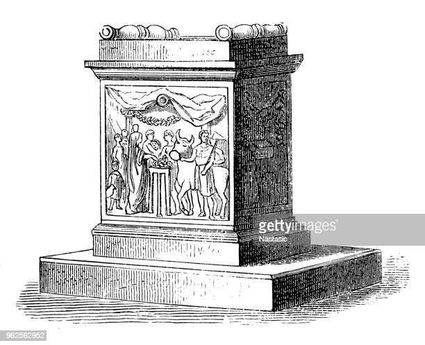 ilustrações de stock, clip art, desenhos animados e ícones de house altar of quirinus is an early god of the roman state - nicho