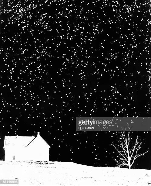 """house and """"snow"""" - snowing stock illustrations"""
