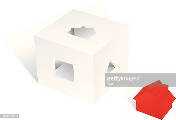 house block - model to scale stock illustrations, clip art, cartoons, & icons