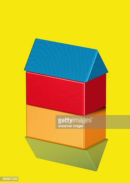 house / home - four objects stock illustrations