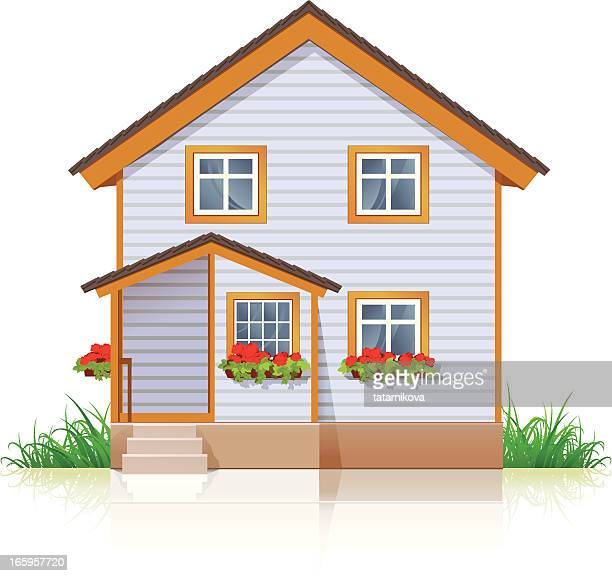 house - house exterior stock illustrations, clip art, cartoons, & icons