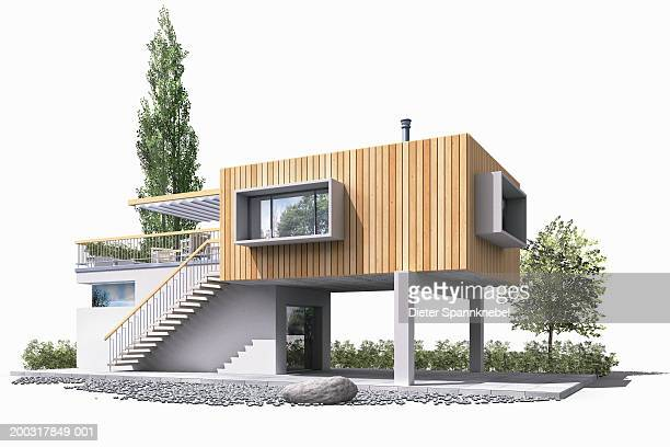 house (digital) - model to scale stock illustrations, clip art, cartoons, & icons