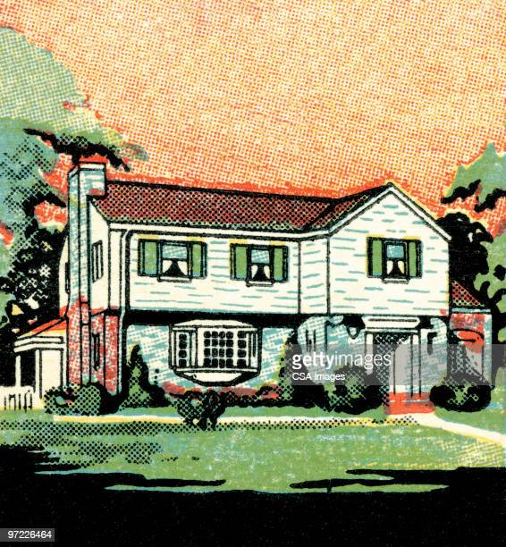 house - facade stock illustrations