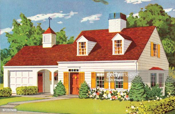 house - outdoors stock illustrations