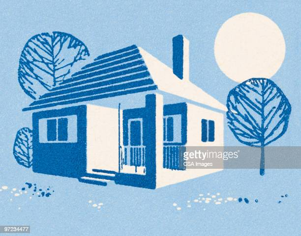 house - residential building stock illustrations
