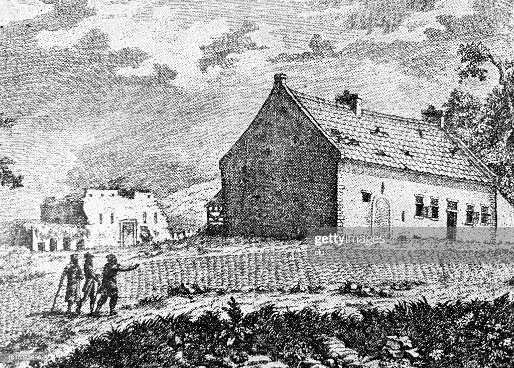 House In Bellealliance Headquarter Of Napoleon Stock Illustration