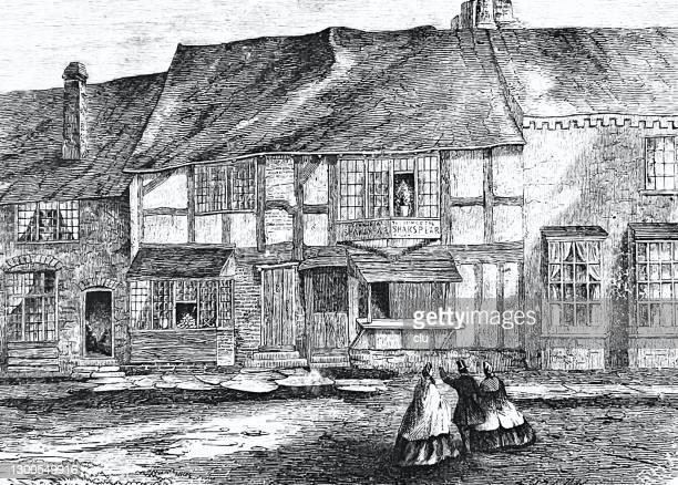 ストラトフォード・アポン・エイボンのシェイクスピアの家 - 名作 発祥の地点のイラスト素材/クリップアート素材/マンガ素材/アイコン素材