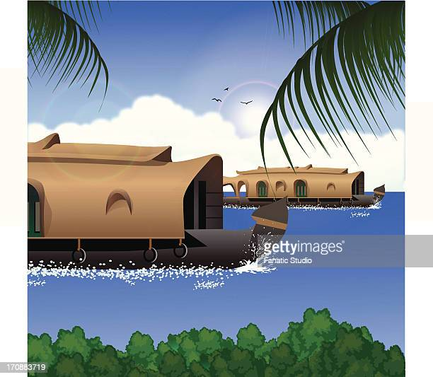 Houseboat Stock Illustrations And Cartoons