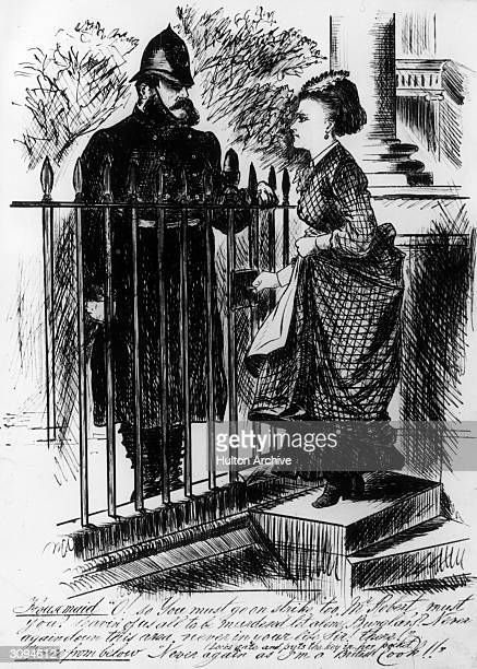 A housemaid voices her anger at the upcoming Metropolitan police strike in London enraged that the local constable is 'leavin' of us all to be...