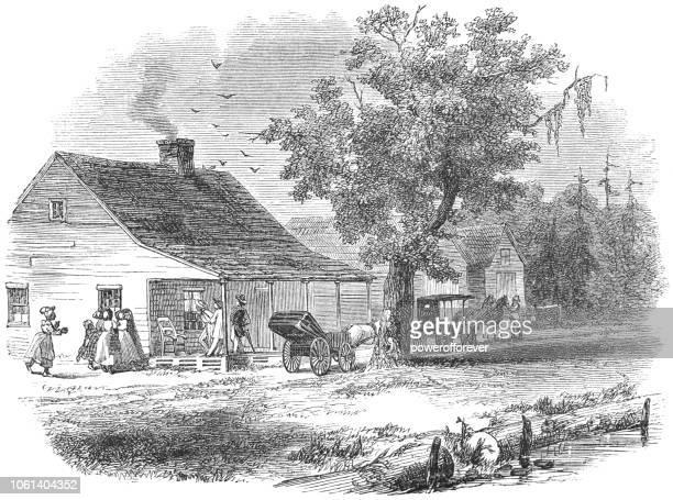 Houses along a Street in Elizabeth City, North Carolina, USA (19th Century)