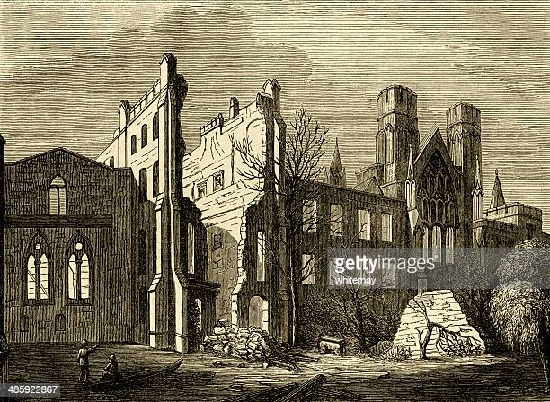 Houses of Parliament after the fire, 1834