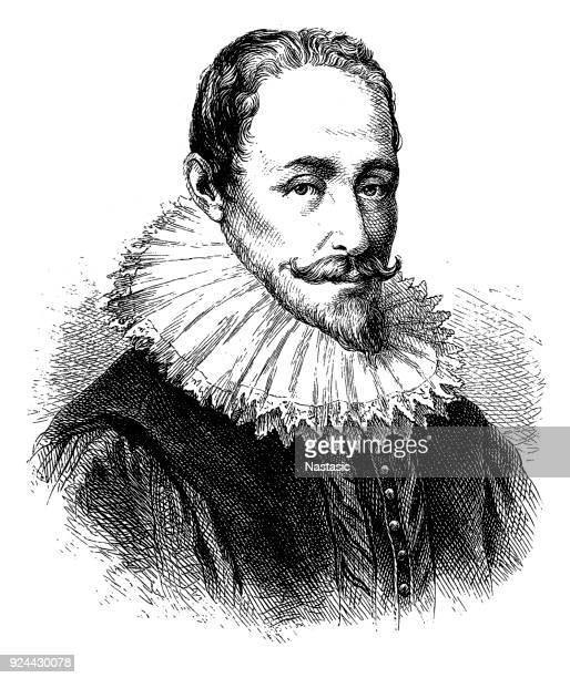 hugo grotius (1583-1645), dutch philosopher - philosopher stock illustrations