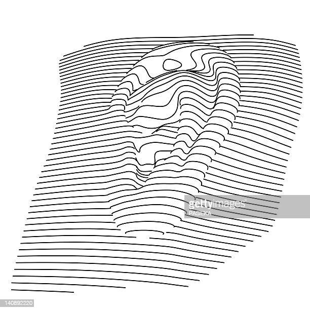 human ear, computer artwork - ear stock illustrations