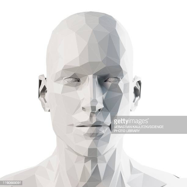 illustrazioni stock, clip art, cartoni animati e icone di tendenza di human head, illustration - triangolo forma bidimensionale