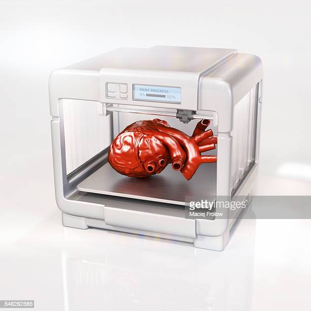 human heart made with a 3d printer - 2015 stock illustrations