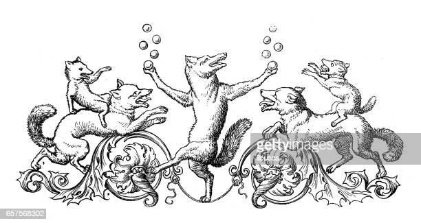 Humanized animals illustrations: Decoration