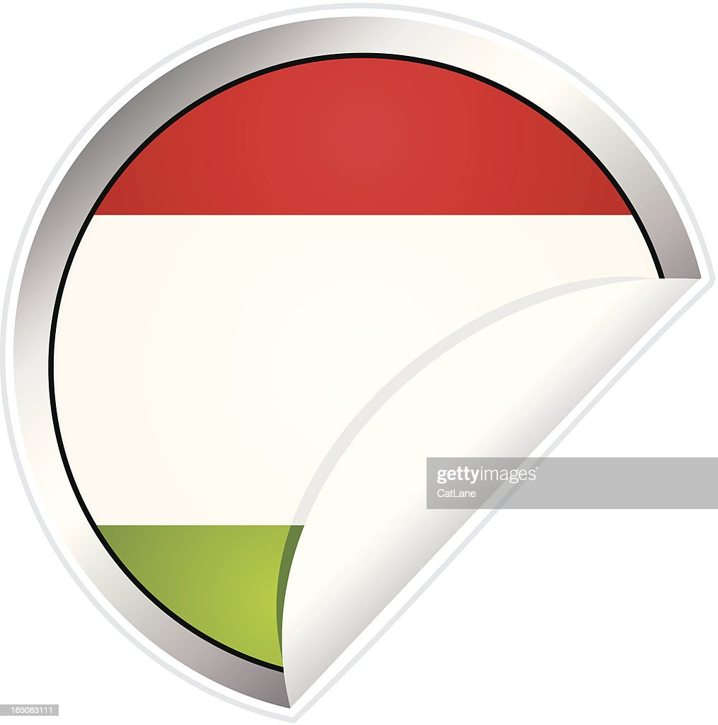 Hungarian Flag Sticker : stock illustration