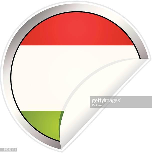 Hungarian Flag Sticker