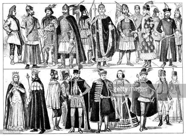 Hungarian national costumes historical development