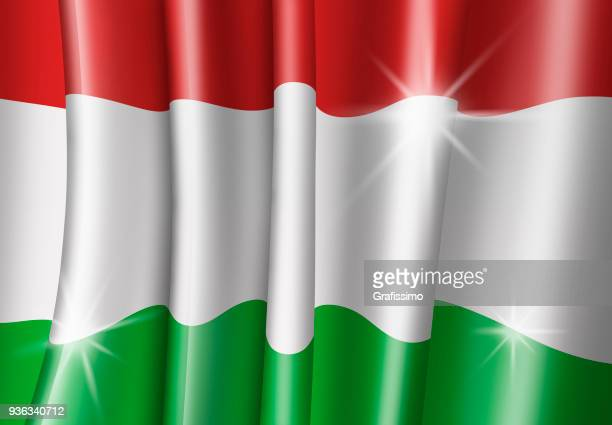 Hungary illustration of hungarian flag