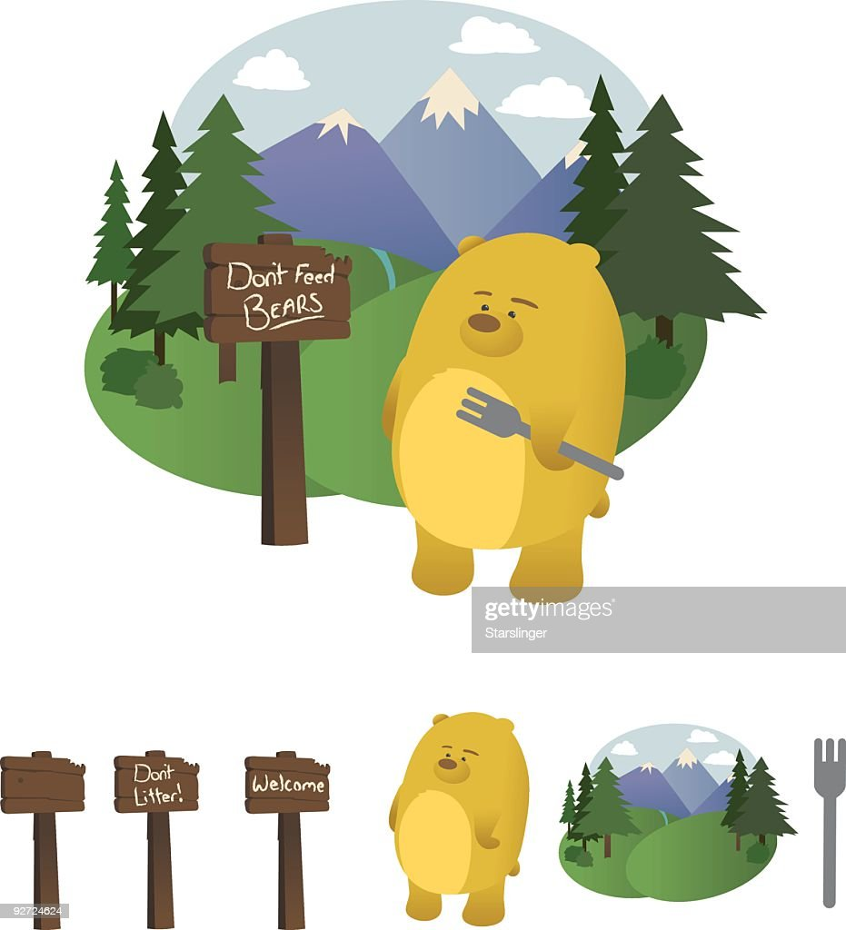 Hungry bear in the Woods