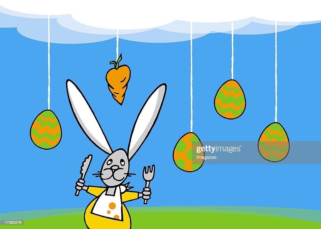 hungry rabbit : Stock Illustration