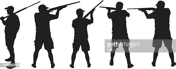 illustrations, cliparts, dessins animés et icônes de chasseur visant à la cible - chasseur