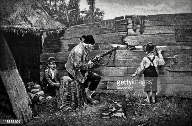 hunting with grandpa - 1887 stock illustrations, clip art, cartoons, & icons