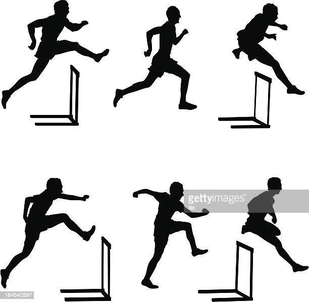 hurdlers - track and field stock illustrations, clip art, cartoons, & icons
