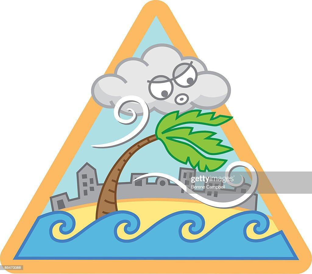 A hurricane : stock illustration
