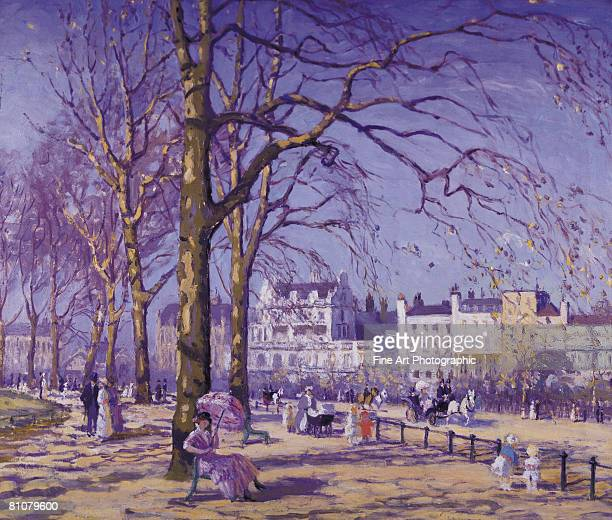 hyde park, london, england - large group of people stock illustrations