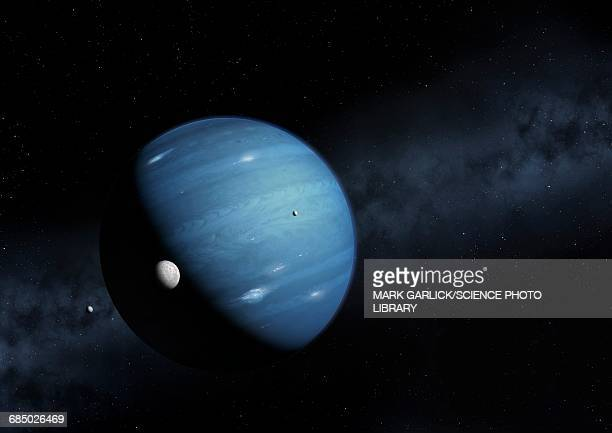 hypothesised ninth planet, illustration - planet space stock illustrations
