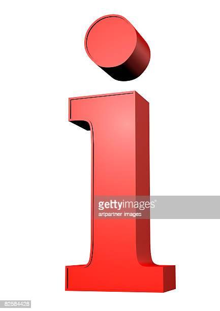 """i"" for information here on white background - the alphabet stock illustrations"