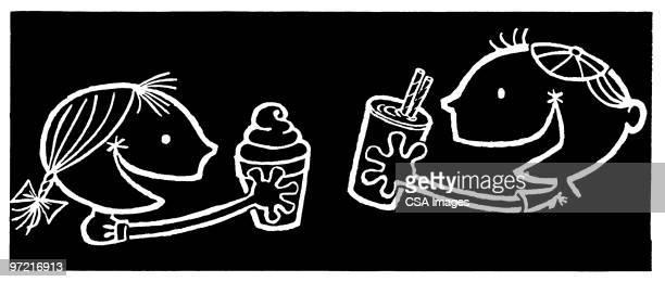 ice cream - scoop shape stock illustrations, clip art, cartoons, & icons