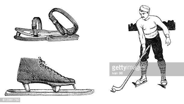 ice hockey - monoprint stock illustrations
